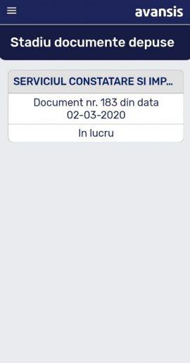 interfata mobile registratura